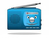 Happy retro transistor radio