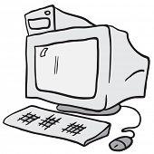 computer cartoon doodle
