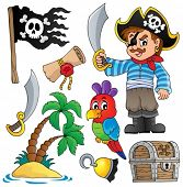 Pirate thematics collection 1 - eps10 vector illustration.