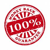Money Back Grunge Rubber Stamp