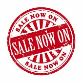 Sale Now On Grunge Rubber Stamp