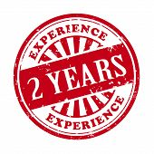 2 Years Experience Grunge Rubber Stamp