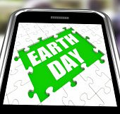 Earth Day Smartphone Shows Conservation And Environmental Protection