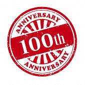 100Th Anniversary Grunge Rubber Stamp