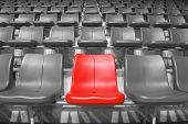Постер, плакат: Red Stadium Seats