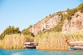 Turkish  Lycian Tombs On The Dalyan River