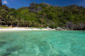 Tranquil tropical beach in El Nido, Palawan island, Philippines