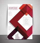 foto of booklet design  - CMYK Business Corporate Flyer Template  - JPG