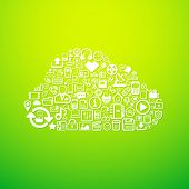 Computer cloud icon