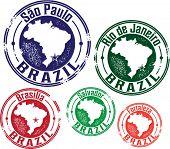 S�?�£o Paulo, Rio de Janeiro and Brazil City Stamps