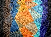 colorful mosaic cubism grunge background
