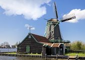 Windmill in a small Near Amsterdam