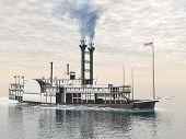 Old riverboat - 3D render