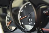 Engine Tachometer In Sports Car