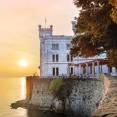 Miramare Castle, Trieste, Italy, Europe.