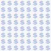 Small Light Blue Dollar Sign Pattern