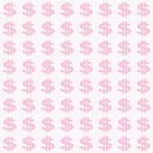 Small Pink Dollar Sign Pattern