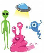 Cute Vector Aliens