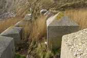 Anti Tank Cubes, Stone World War Two Invasion Coastal Defences.