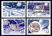 Ussr Stamps, Automatic Station And Moon Rover