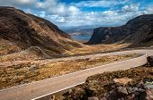 Descending Bealach Na Ba From Applecross, Scottish Highlands
