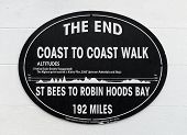 Plaque for coast to coast walk, England