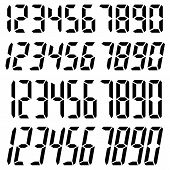 Set Of Electronic Digits