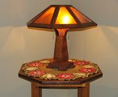 Arts  And Crafts Lamp And Tablejpg