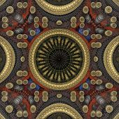 Circle Center 3D Pattern Gold