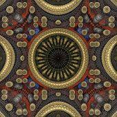 Circle Center 3D Pattern Gold