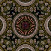 Circle Center 3D Pattern Dark