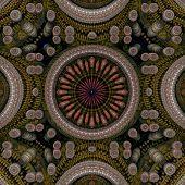Circle Center 3D Pattern Dark