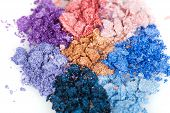 Flower Made Of Crumbled Makeup Eyeshadows