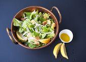 Caesar Salad in a Copper Bowl