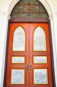 Beautiful Church Doors In  Thailand