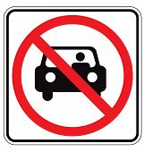 stock photo of obey  - Sign For No Car or No Parking Sign - JPG