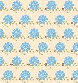 Retro flowers background,vector