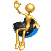 Waving In Hovering Futuristic Chair