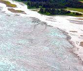 Edge Of Alascan Glacier Field