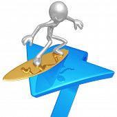 Surfing Market Arrow