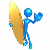 Surfer Waving