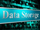 Data Storage Shows Hardware Datacenter And Server