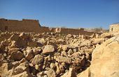 stock photo of zealots  - Ruins of ancient judaic Masada fortress Israel - JPG
