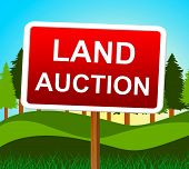 Land Auction Represents Building Plot And Auctioning