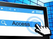 Online Access Shows World Wide Web And Permission