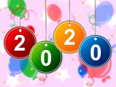 New Year Means Celebrate Twenty And New-year