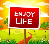 Enjoy Life Shows Live Joyful And Happiness