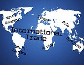 International Trade Indicates Across The Globe And Commercial