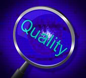 Magnifier Quality Indicates Searches Research And Certified