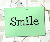 Smile Sign Indicates Signboard Emotions And Advertisement